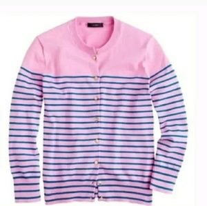 J.Crew Jackie Nautical striped cardigan sweater